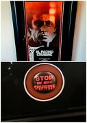 Al Pacino Cruising Framed Insert And Rare Protest Button 1980