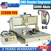 6090 4axis Usb Cnc Axis Engraving Milling Machine 3d Engraver 4 Rotating 2.2kw