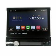 Android 10.0 Single 1 Din Gps Car Stereo Cd Dvd Player Bluetooth 7 Touch Screen