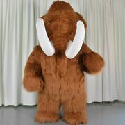 Inflatable Plush Mammoth Mascot Costume Adult Fursuit Cosplay Party Dress Outfit