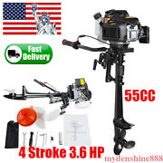 3.6 Hp 4 Stroke Outboard Motor 55cc Boat Engine W/ Air-cooled Air Cooling System