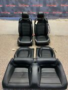 2016 Ford Mustang Gt Coupe Oem Black Leather Front Rear Seats -one Blown Bag-