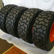 4 12-16.5 Road Crew Rs102 14 Ply Skid Steer Loader Tire With Orange Color Rims