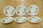 Iroquois Old Orchard 6 Dinner Plates   Informal True China   Usa