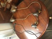 Pair Rare Standard 1900 Antique Gas Lamps Hanging Ceiling Lamps Chicago