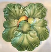 Very Rare Brad Keeler Pottery 890 6 Section Divided Serving Platter Tray Mcm