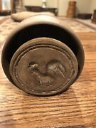 Antique Wooden Rooster Butter Stamp Mold