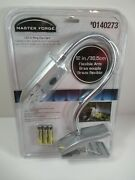 Brand New Master Forge Grill Grilling Clip Light Led 12 Flexible Armandnbsp 0140273