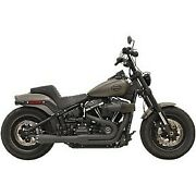 Bassani Black Road Rage Ii 21 Exhaust System For 18-20 Slim And Fat Bob