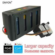 Dmyon Replacement For Canon Pg40 Cl41 Ciss Bulk Ink For Ip1200 Ip1600 Ip1800