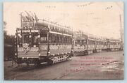 Postcard Tokyo Railway Co Decorated Trolley Cars The Great White Fleet 1908 T5