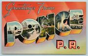 Postcard Ponce Puerto Rico Large Letter Greetings From Ponce Pr Matias Shop Aa4