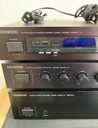 Kenwood Basic M1 C1 T1 Component Stereo Vintage Amplifier Preamplifier And Tuner