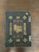 Rare Antique Large Family / Marriage Holy Bible Late 1800and039s Metal Clasps