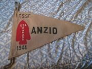 Wwii Usa 1st Special Service Force Balck Devils Anzio 1944 Pennet Flag