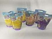Set Of Six 2lb Kinetic Sand For Mixing Molding And Creating Beach Yellow Purple