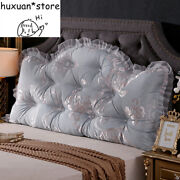 Bedside Cushion Large Back Cushion Double Triangle Bed Long Pillow Lumbar Pillow