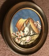 V Tiziano Wood Framed 1983 Limited Edition Easter Plate Venice Italy