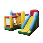 Aleko Bhpool-unb Inflatable Fun Slide Bounce House With Ball Pit And Blower