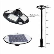 100w Led Solar Lamp Post Light Outdoor With 98 Inch Pole Ip65 Waterproof Solar P