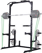 Gym Multi-function Power Rack Home Exercise Squat Stand Pull Up Dip New Station