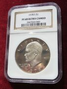 1978 S Eisenhower Clad Dollar Ngc Ultra Cameo Pf 68 Pretty Coin