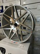 Gianelle Parma Wheels Gloss Silver/machined Face 26x10 For Any Car/suvs Forgiato