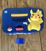 Pikachu Nintendo 64 Console System Us Version Rare Console Only Tested Look
