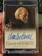 Game Of Thrones Season 2 Charles Dance As Tywin Lannister Autograph
