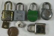 5 Small Vintage Locks Lock Collection Some With Keys