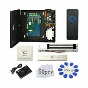 1 Door Proximity Rfid Card Access Control System With 600lbs Magnetic Lock 11...