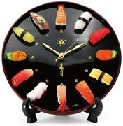 Sushi Wall Clock Watch Authentic Food Samples Made By Experts Gift Japan New