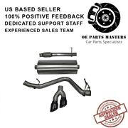 Corsa 14847blk Cat-back Exhaust System With Dual Side Exit For Chevy/gmc 14-18