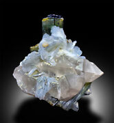 Natural Tourmaline Crystals With Quartz And Albite From Afghanistan - 192 G
