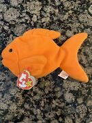 Ty Beanie Baby Goldie The Goldfish 1993 Rare Retired With Errors And Pvc Pellets