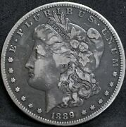 1889 Cc Morgan Silver Dollar Vf Details Rare Key Date Carson City Coin