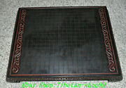 23 Old China Ebony Wood Carve Ancient People Person Chess Table Desk Desks