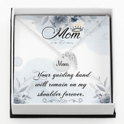 Mom - Your Guiding Hand Will Remain - Mom Remembrance Necklace