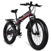 Eclectic Bike 26and039and0394.0 Fat Tire 1000w 48v12.8ah 21 Super Level Snow Folding Ebike