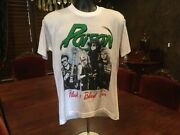 Poison Flesh And Blood Tour Unisex T Shirt. Nice Condition. White. Large