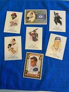 2008 Mixed Lot Of 7 Topps Allen And Ginter Bob Motley, State Card, Sketch, Misc.