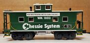 Mth 20-91343 O-scale Chessie Center Cupola Steel Caboose 1803