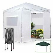 8' X 8' Portable Walk-in Greenhouse And Canopy Tent, Instant Pop-up Fast