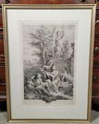 Antique Antonio Zucchi Europa Engraving By Joseph Wagner Old Master 18th Century