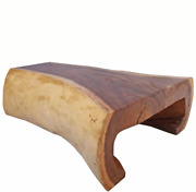 Smooth Curved Living Edge Coffee Table