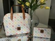 Dooney And Bourke Db Multicolor Satchel And Wallet Set