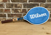 Wilson Chris Evert Champion 4-3/8 Vintage Wood Tennis Racquet Completewith Cover