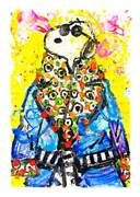 Wearing Jim Dine - Snoopy Parlor Edition Pp By Tom Everhart