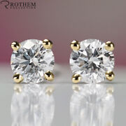 9000 Solitaire Diamond Stud Earrings 2.01 Ct Yellow Gold I3 Studs 51458354