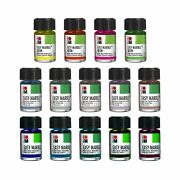 Marabu Easy Marble Paint Set | All Neon And Pastel Colors | 14 Bottles Of Mar...